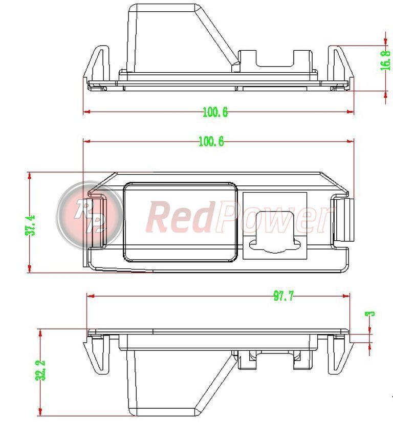 Размеры камеры парковки HYU119
