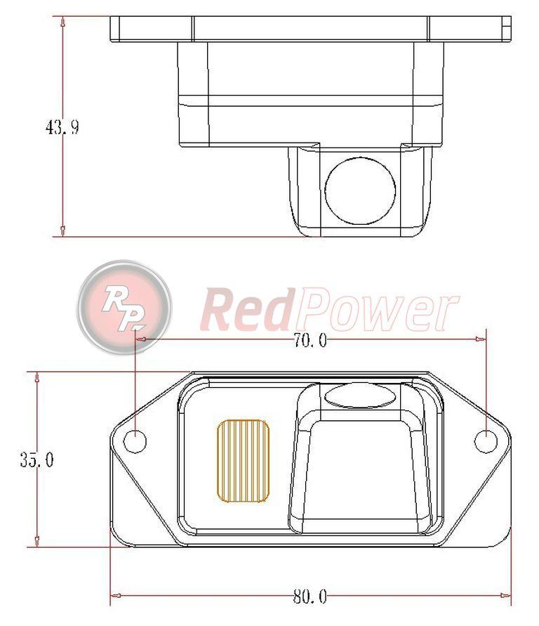 Размеры камеры парковки MIT106