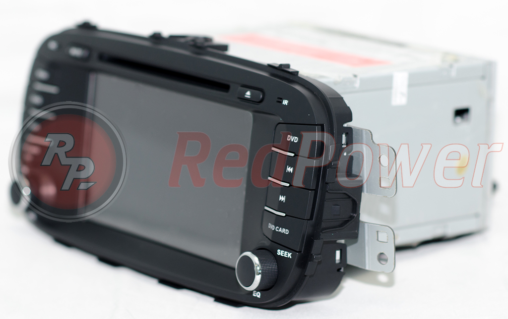 Головное устройство Redpower 21043 вид сбоку на Киа Соул