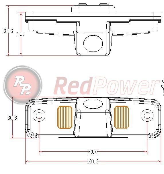 Размеры камеры парковки SUB108P