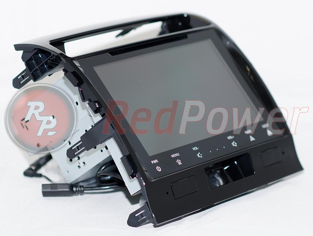RedPower 31200 IPS вид сбоку Штатное головное устройство Toyota Land Cruiser 200