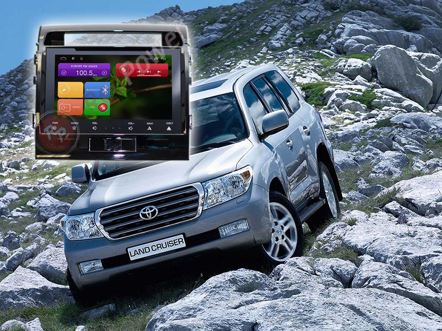 Штатное головное устройство Toyota Land Cruiser 200 автомагнитола Redpower 21200B IPS android