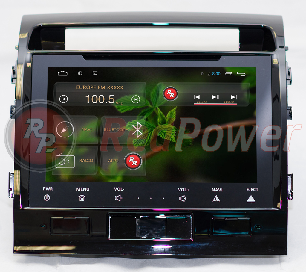 Головное устройство RedPower 21200B IPS на Toyota Land Cruiser 200