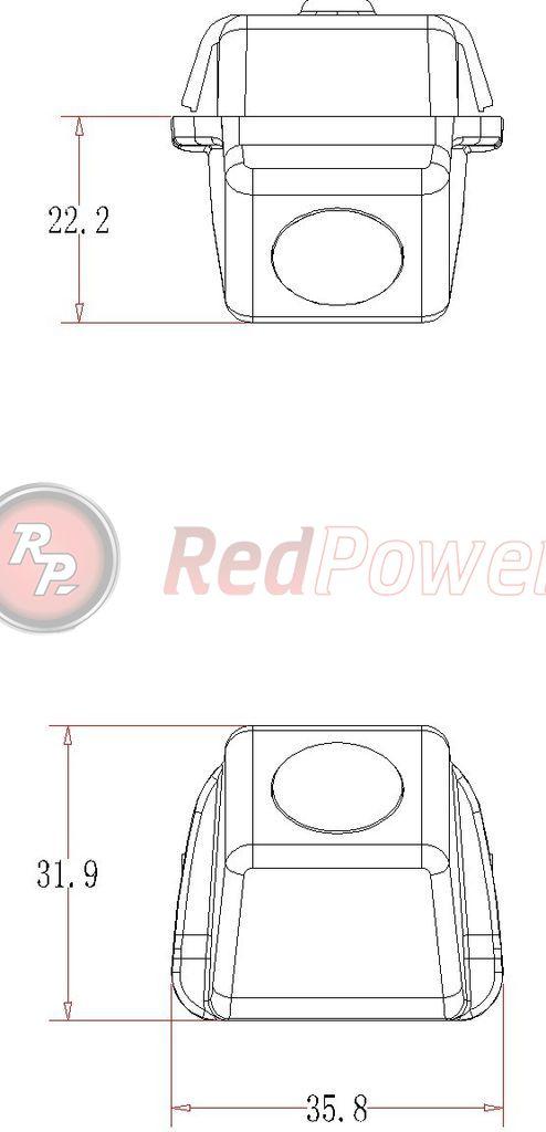 Размеры камеры парковки TOY040