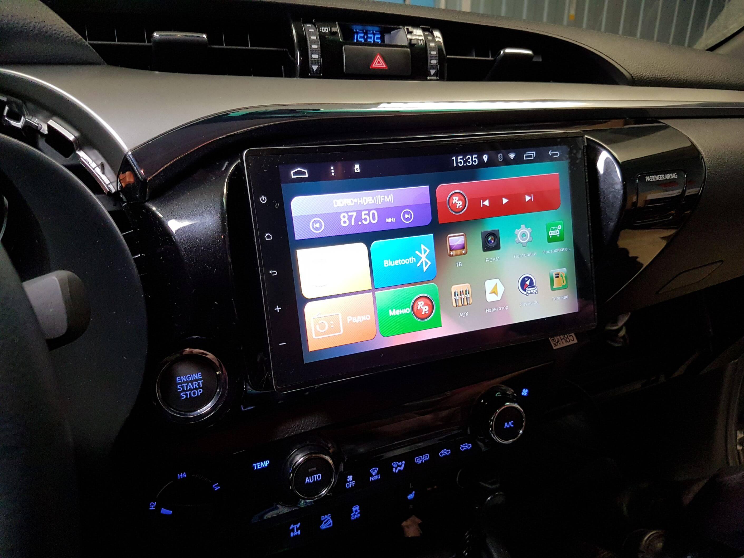 Штатное головное устройство Toyota Hilux автомагнитола Redpower21186B IPS