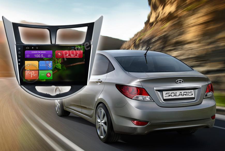 Штатное головное устройство Hyundai Solaris Redpower 21067B IPS автомагнитола android