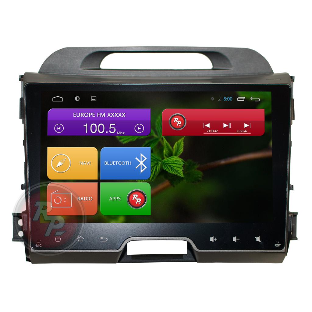 2 din автомагнитолы на киа спортейдж Штатное головное устройство TRINITY для KIA Sportage 3 по ...