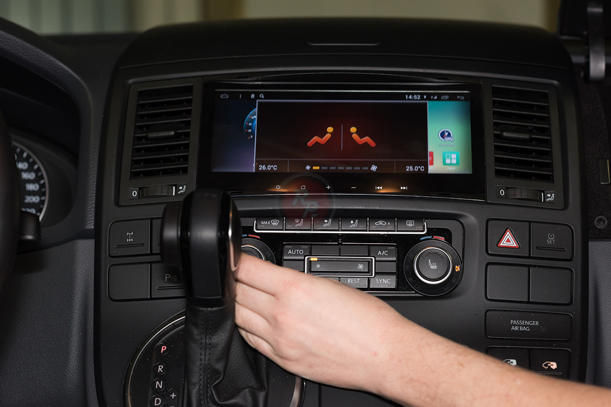 RedPower 31142 IPS в Volkswagen Multivan 2014 г. работа климат-контроля