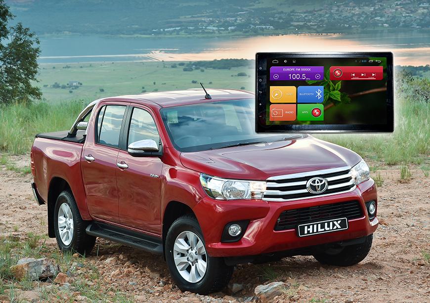 Головное устройство RedPower 21186B IPS на Toyota Hilux 2015