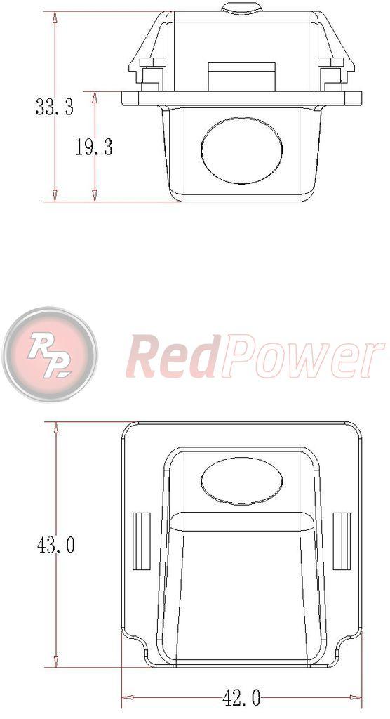 Размеры камеры парковки MIT105
