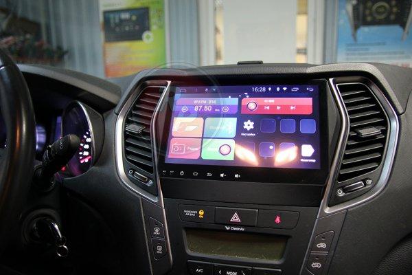 Магнитола Redpower 31210 IPS DSP в автомобиле Hyundai Santa Fe