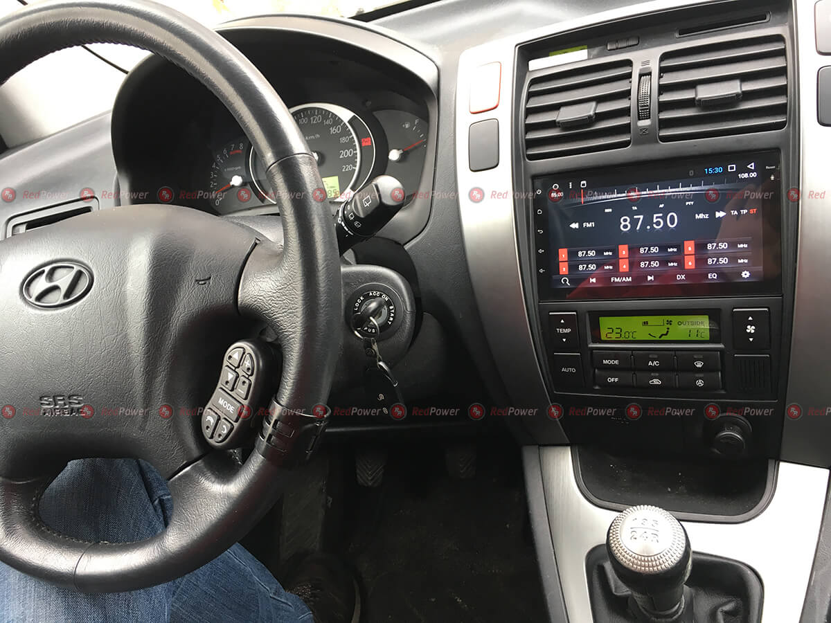 Установка 2 din RedPower на Hyundai Tucson
