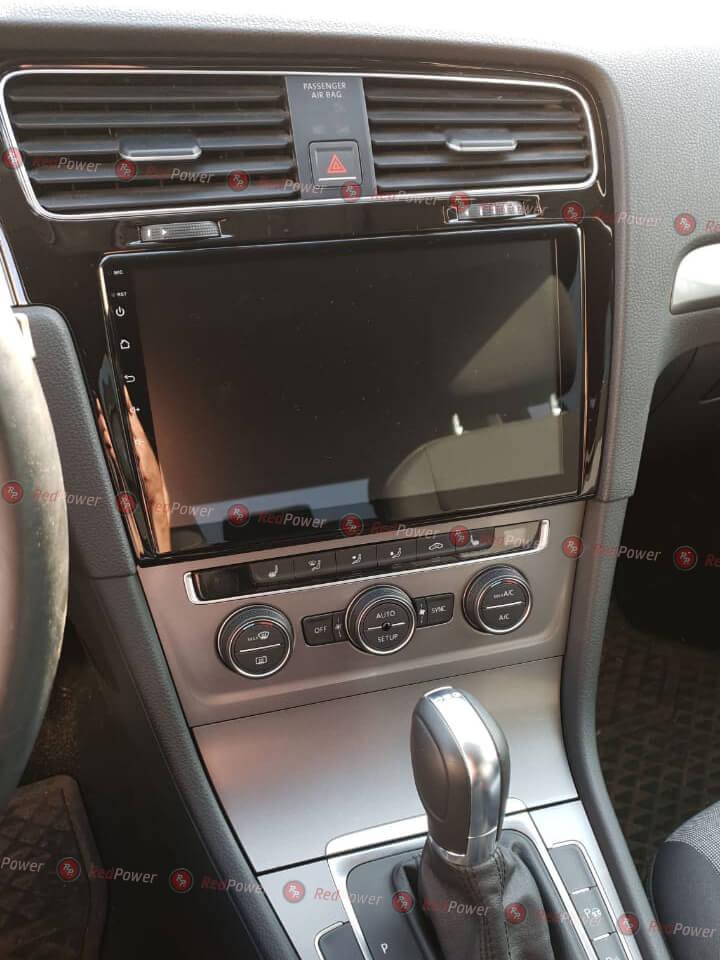 Установка магнитолы redpower  в автомобиль Golf 7