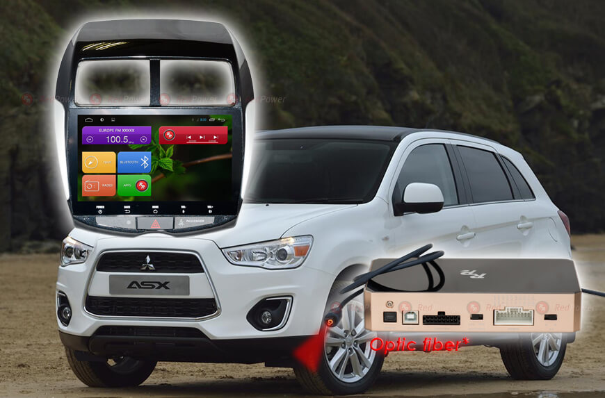 Штатное головное устройство Mitsubishi ASX автомагнитола Redpower 31026 IPS android