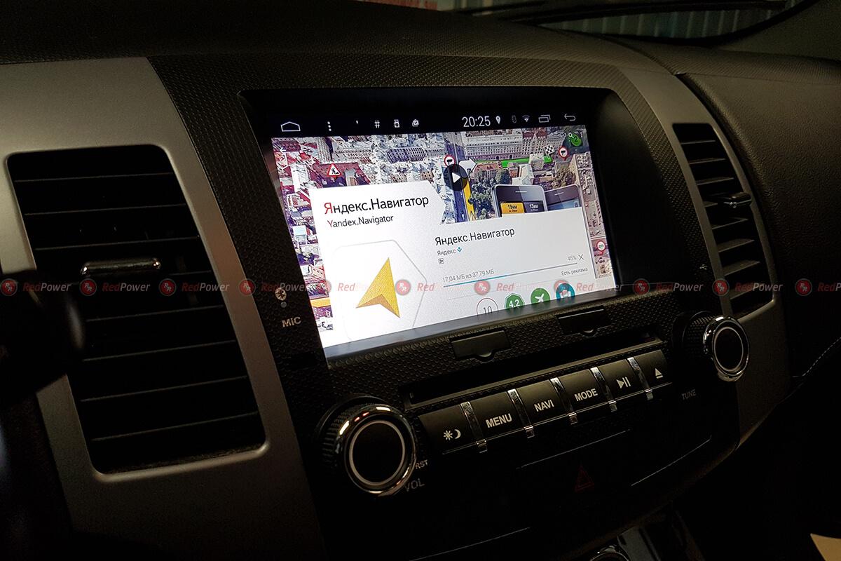 установка автомагнитолы Mitsubishi Outlander XL