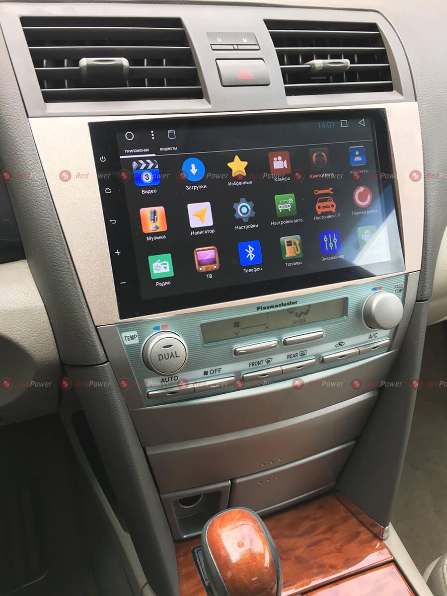 Установка автомагнитолы RedPower 31064 IPS на автомобиль Камри В40