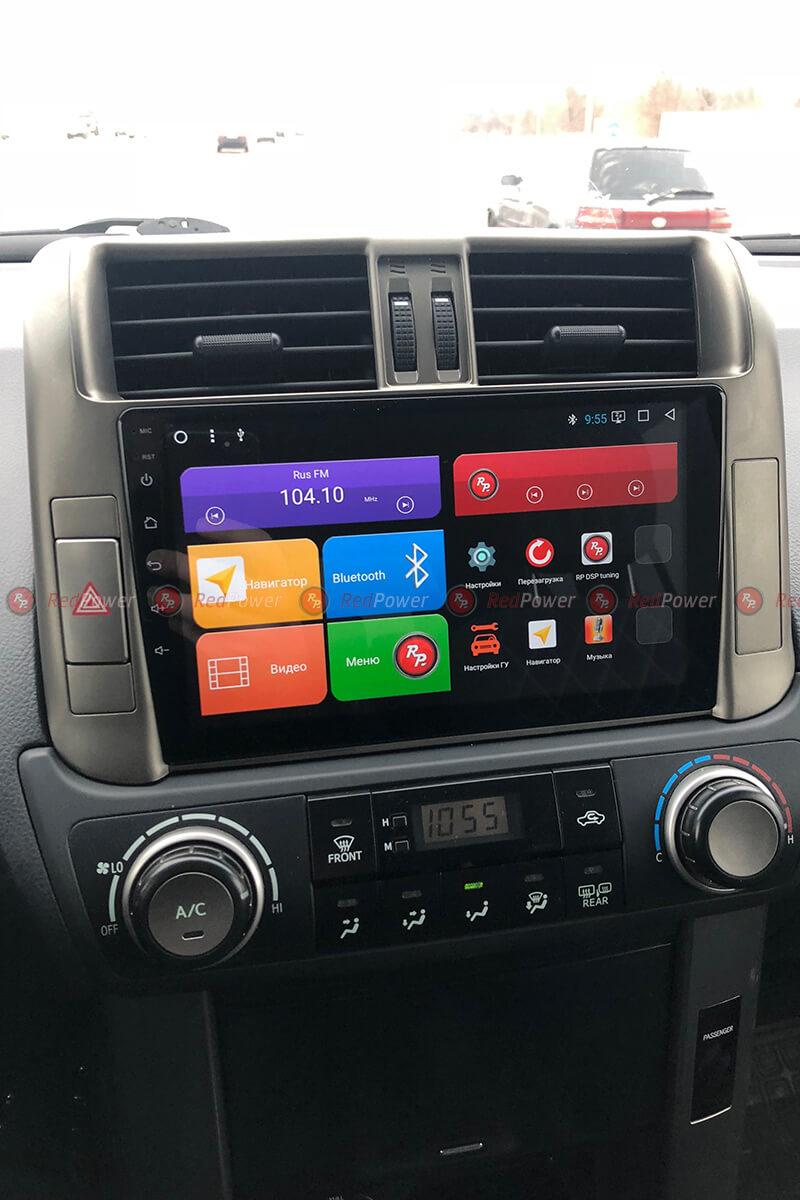 Установка магнитолы 31065 R IPS DSP в автомобиль Toyota Prado 150