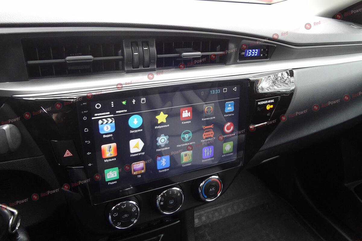 Установка магнитолы 31066 R IPS DSP на Toyota Corolla