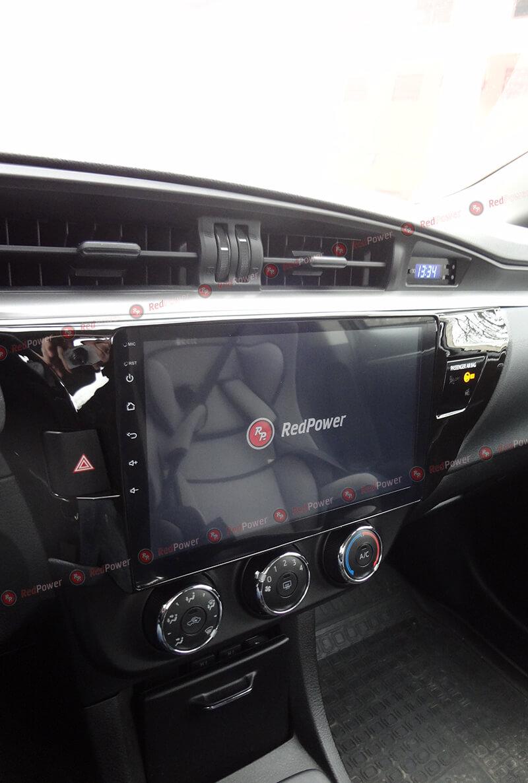 Установка магнитолы 31066 R IPS DSP на автомобиль Тойота Королла