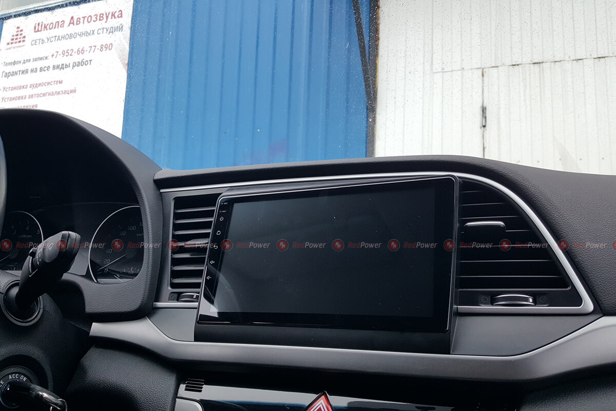 Установка магнитолы на Hyundai Elantra Redpower 31094 R IPS DSP