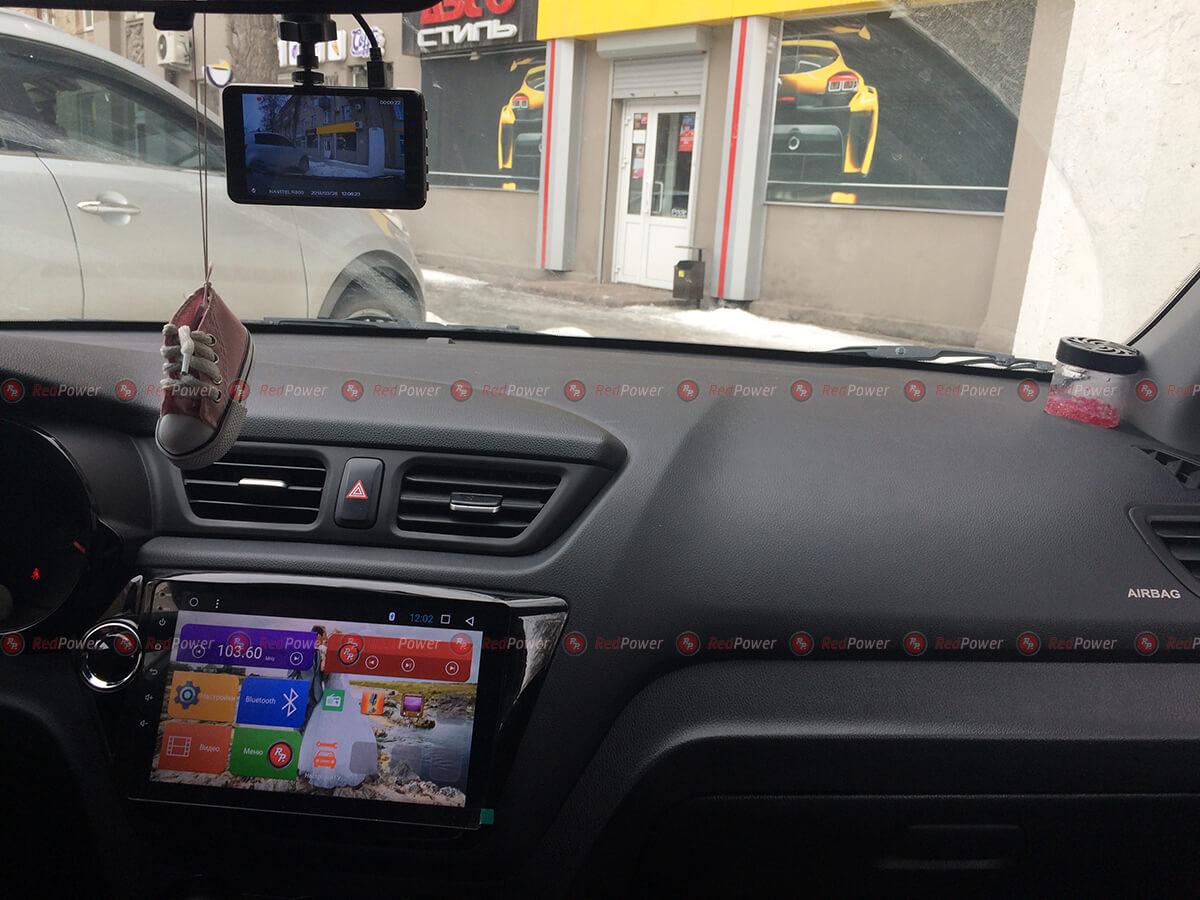 Установка магнитолы RedPower 31106 R IPS DSP в автомобиль Киа Рио