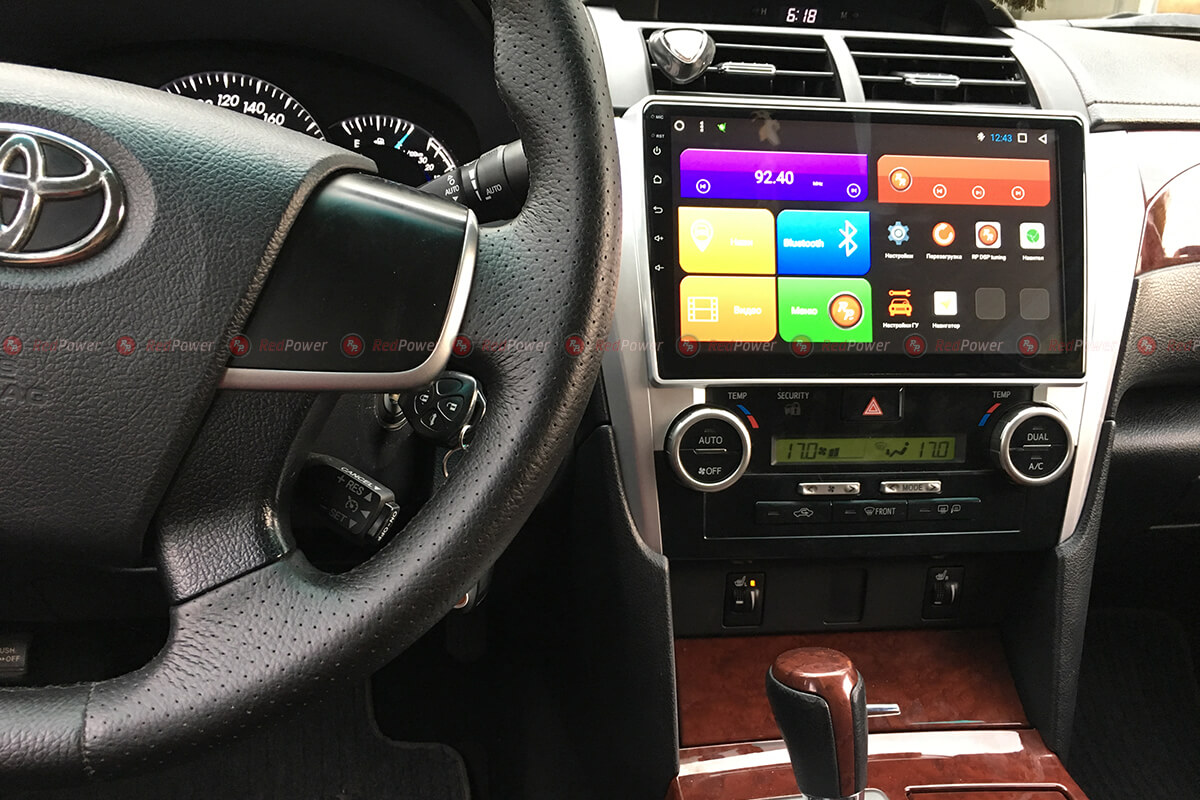 Установка магнитолы RedPower на Toyota Camry V50