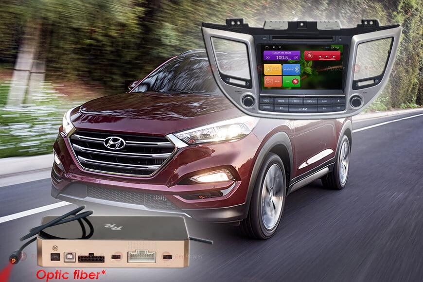Штатное головное устройство Hyundai tucson автомагнитола Redpower 31147