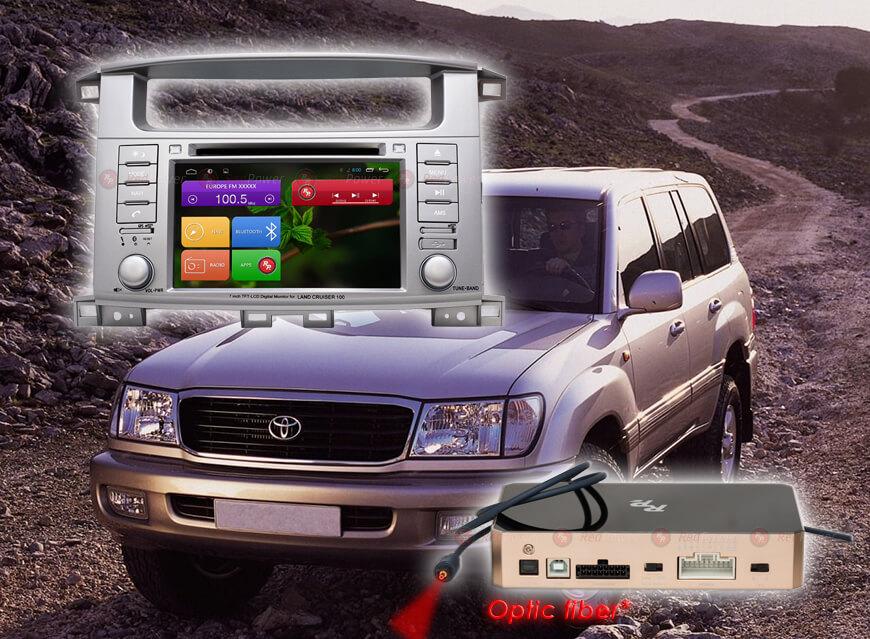 Штатное головное устройство Toyota Land Cruiser 100, Lexus 470 автомагнитола Redpower 31183DVD android