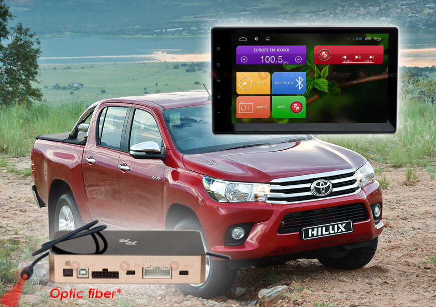 Штатное головное устройство для Toyota Hilux RedPower 31186 IPS
