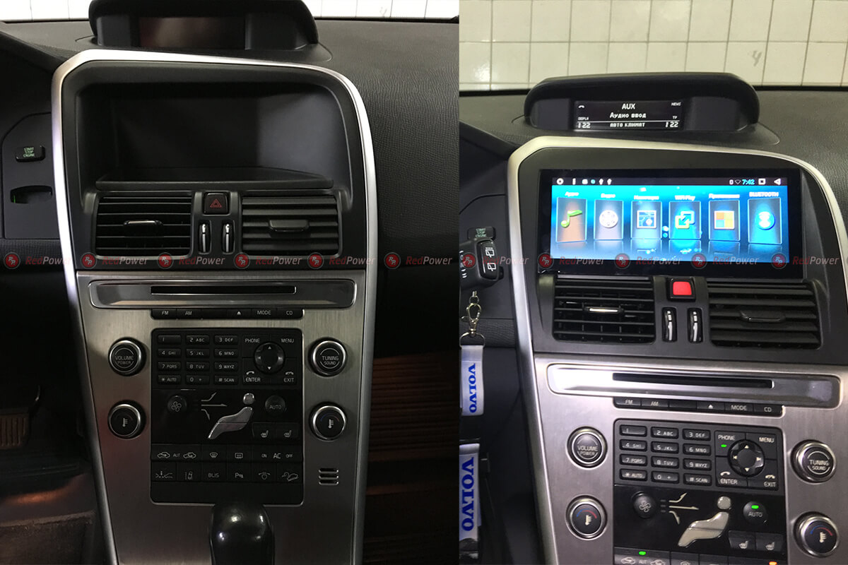 Установка магнитолы Redpower 31191 IPS на автомобиль Volvo XC60
