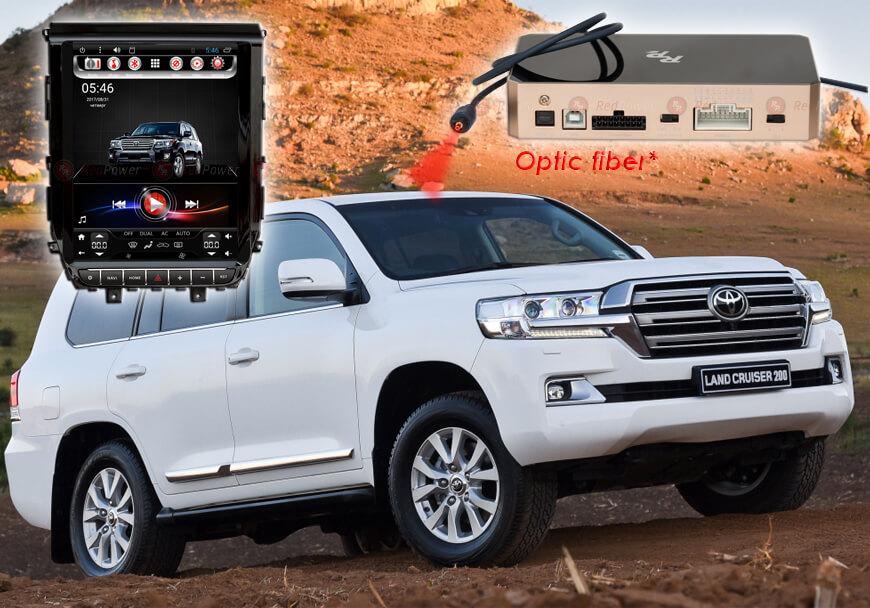 Штатное головное устройство Toyota Land Cruiser 200 автомагнитола Redpower 31201 TESLA android