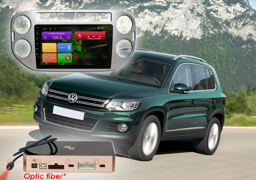 Штатное головное устройство Volkswagen Tiguan автомагнитола Redpower 31204 R IPS DSP Android