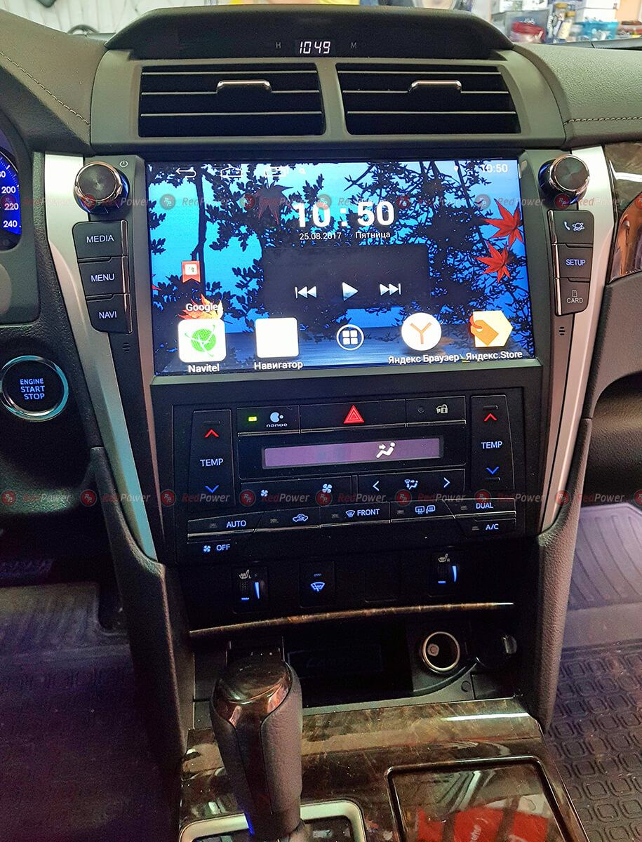 Установка магнитолы RedPower 31231 R IPS на Toyota Camry V55