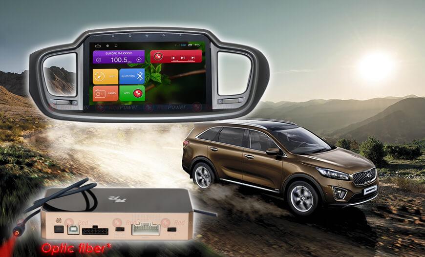 Штатное головное устройство Kia Sorento Prime автомагнитола Redpower 31242 IPS Android