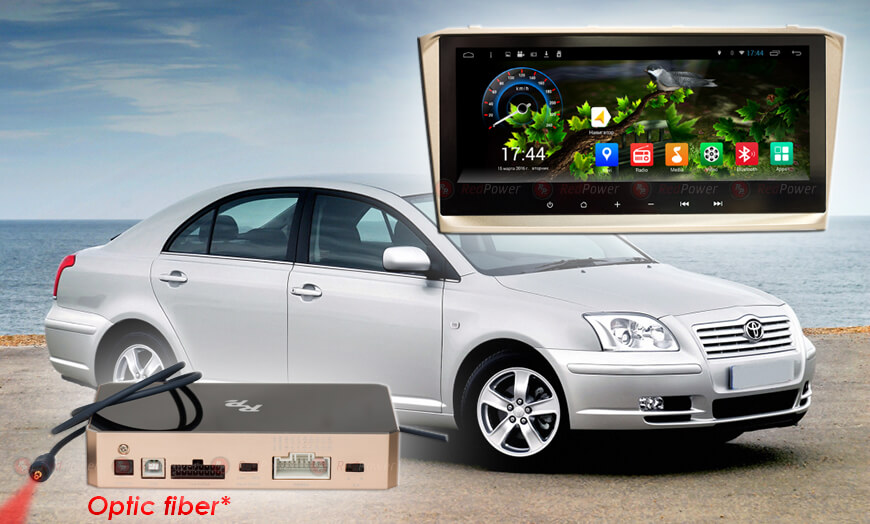 Штатное головное устройство Toyota Avensis автомагнитола redpower 31287 IPS android