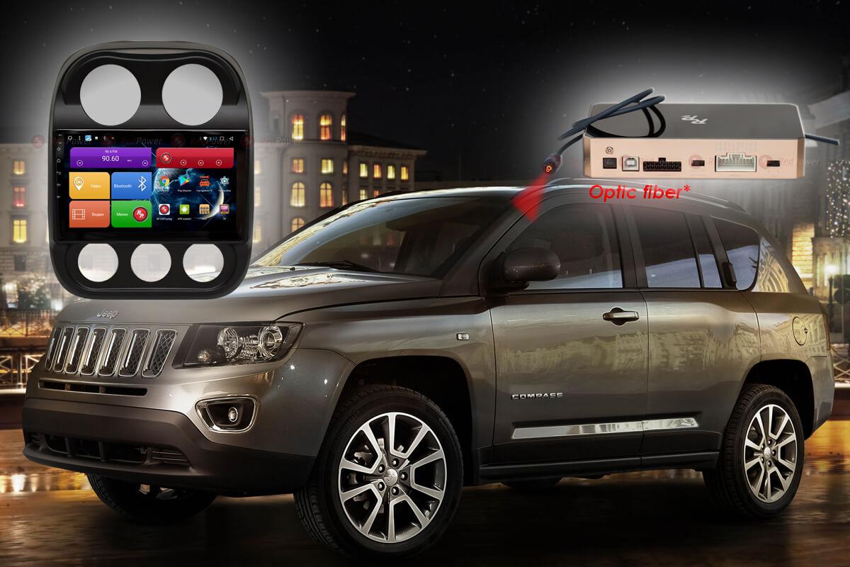 Штатное головное устройство Jeep Compass автомагнитола Redpower 31316 R IPS DSP Android