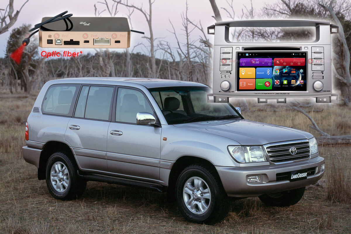 Магнитола Toyota LC100 RedPower 31183 IPS DVD DSP на Toyota Land Cruiser 100