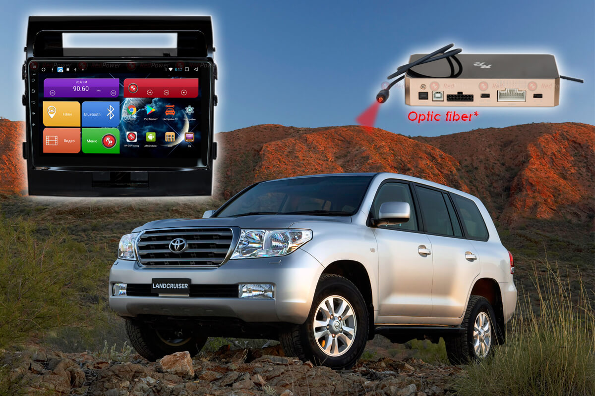 Штатное головное устройство Toyota Land Cruiser 200 автомагнитола Redpower 31200 R IPS DSP android