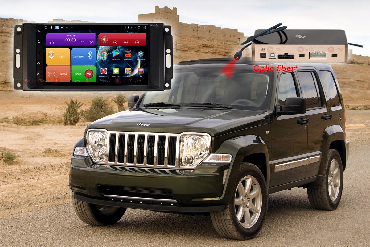 Штатное головное устройство Jeep Crysler, Wrangler автомагнитола Redpower 51216 IPS DSP