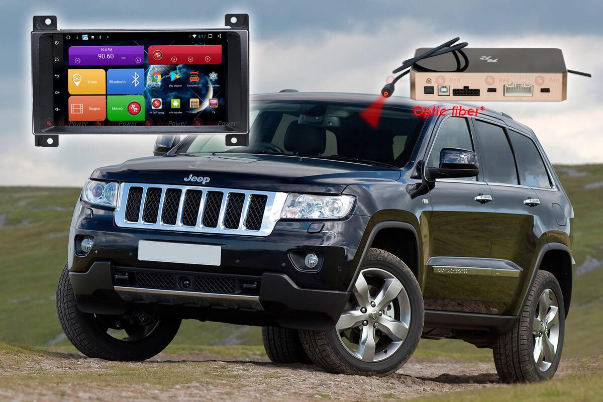 Головное устройство RedPower 31218 IPS DSP на автомобили Jeep Grand Cherokee