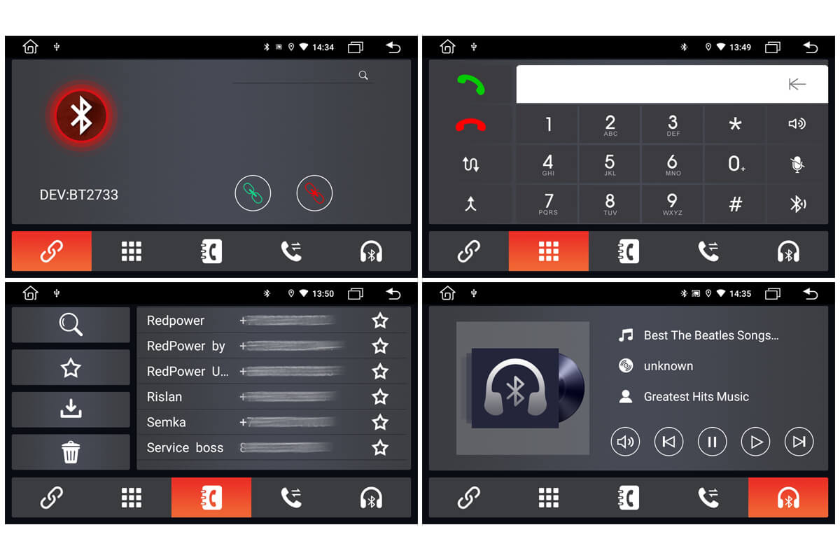 Bluetooth с поддержкой до 3 вызовов и избранными контактами