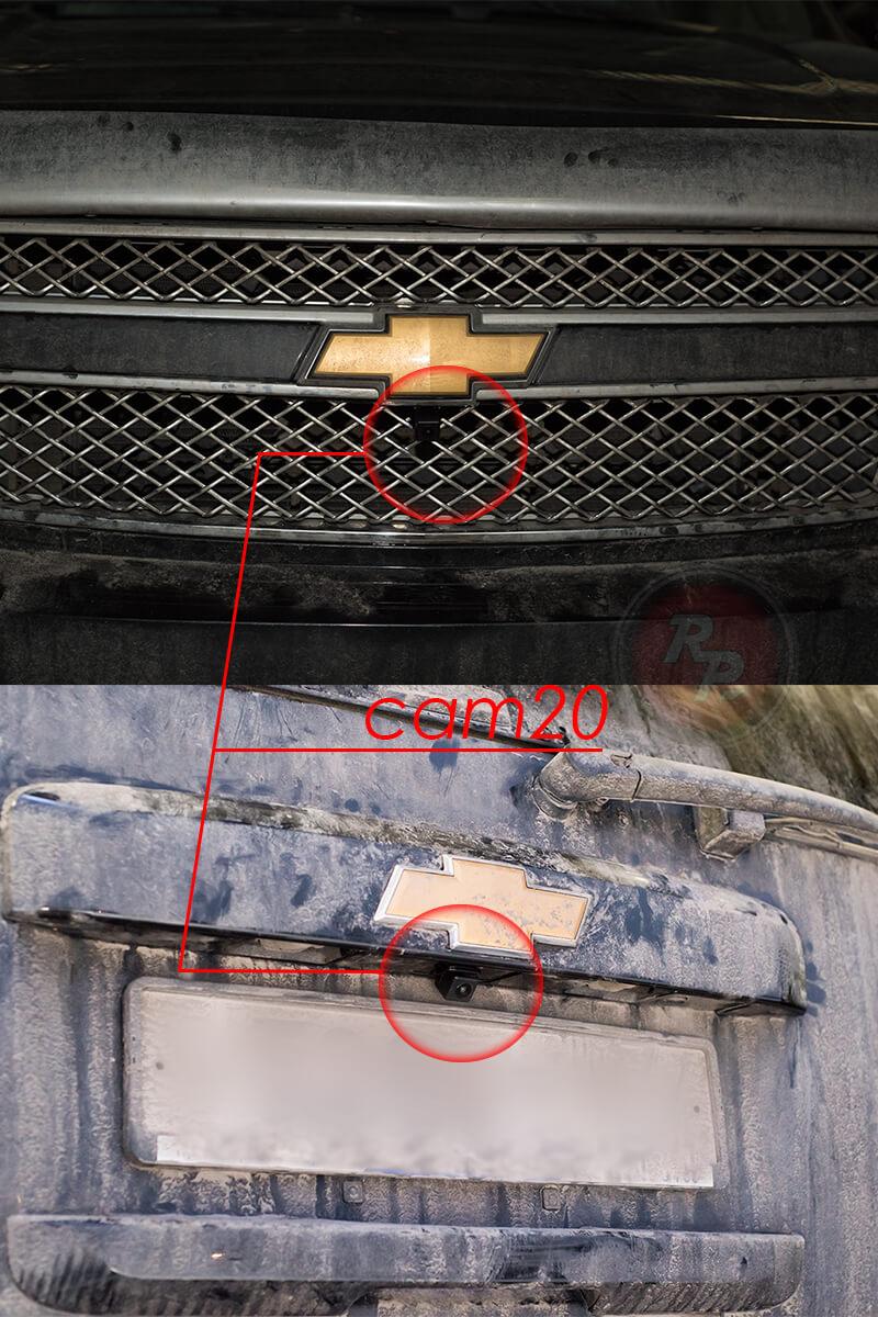 Пример установки камеры RedPower FishEye на автомобиль Chevrotet Tahoe