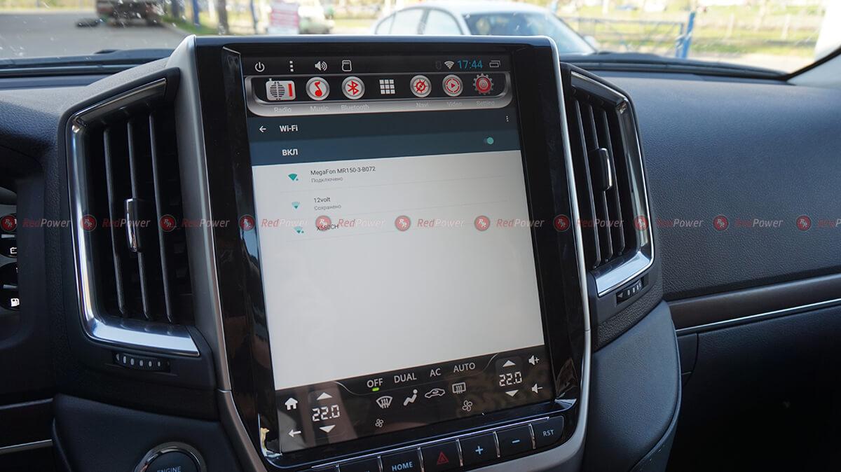 Установка автомагниолы RedPower 31201 Tesla на Тойота Лэнд Крузер прадо 200