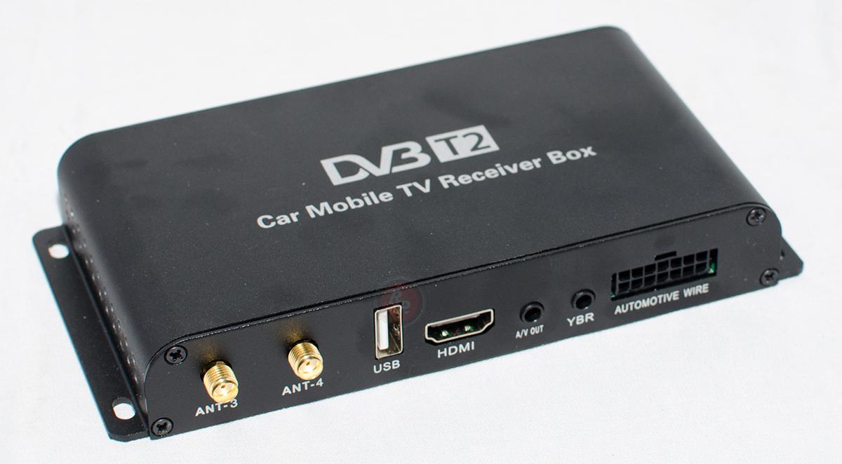 Купить цифровой TV тюнер DVD t2 для автомобиля с 4 антеннами | Тюнеры для авто на RedPower.ru