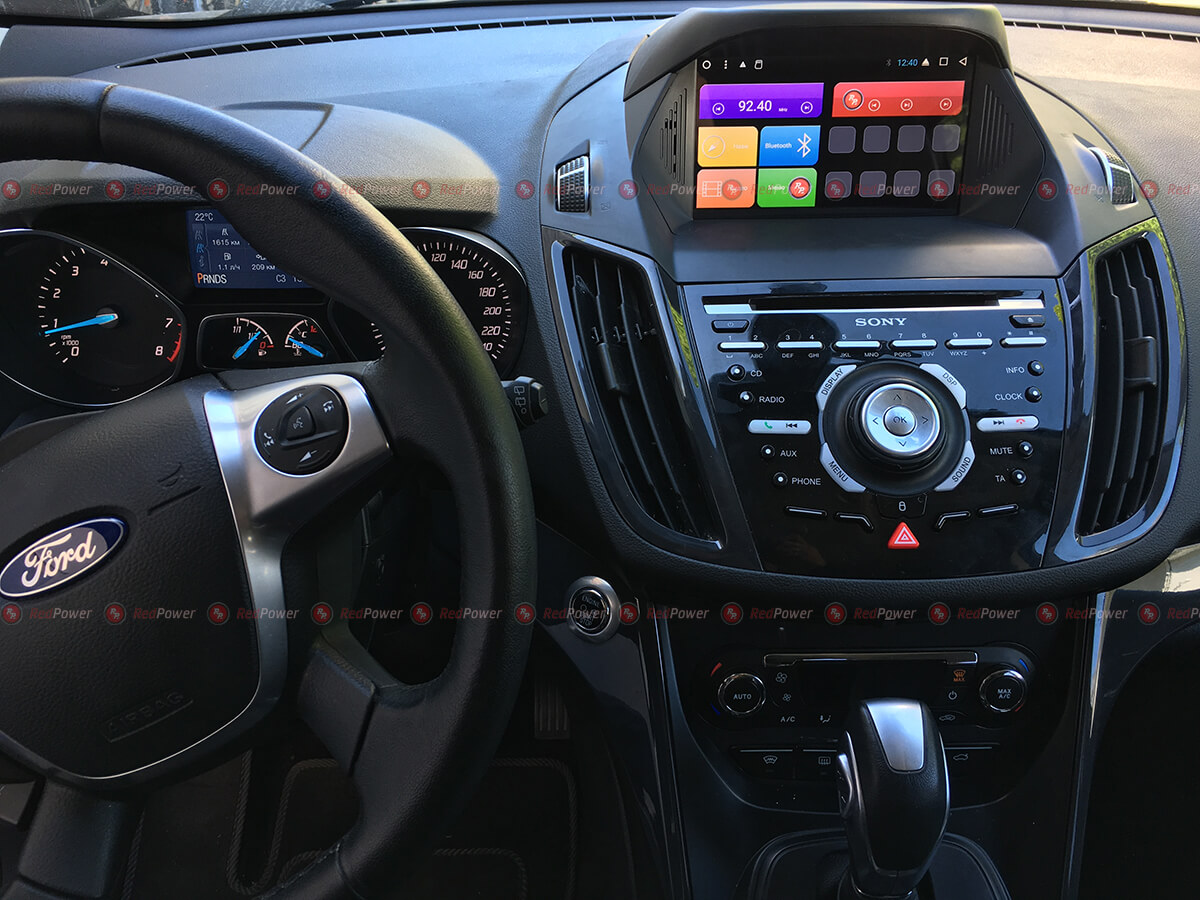 Установка автомагнитолы RedPower 31151 IPS DSP на автомобиль Ford Kuga