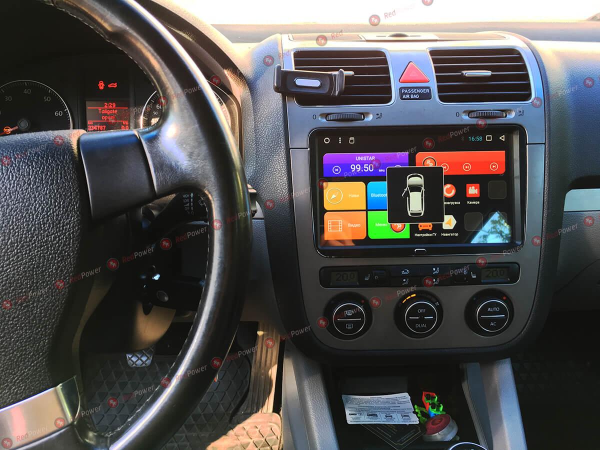 Установка автомагнитолы RedPower 31004 IPS DSP 9 дюймов на автомобиль