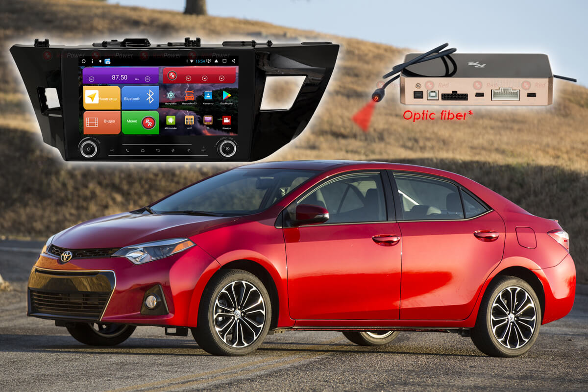 Штатное головное устройство Toyota Corolla автомагнитола Redpower K 31066 R IPS DSP android