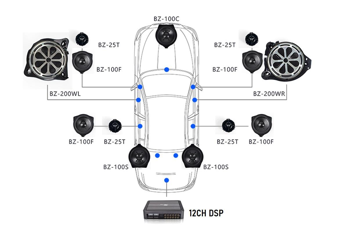 Схема установки динамиков Mercedes Benz