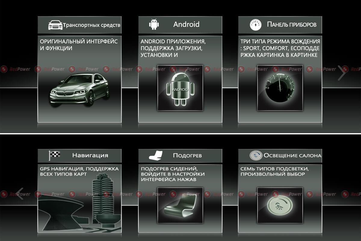 Скриншоты на магнитолу для БМВ X3