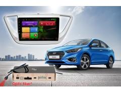 Штатное головное устройство Hyundai Solaris Redpower 31167 R IPS автомагнитола android